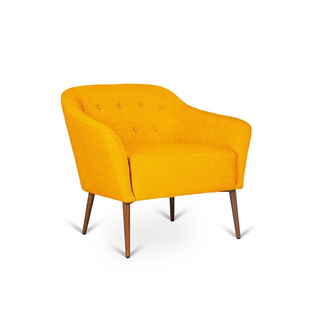 Elena armchair in metal covered in fabric available in various finishes