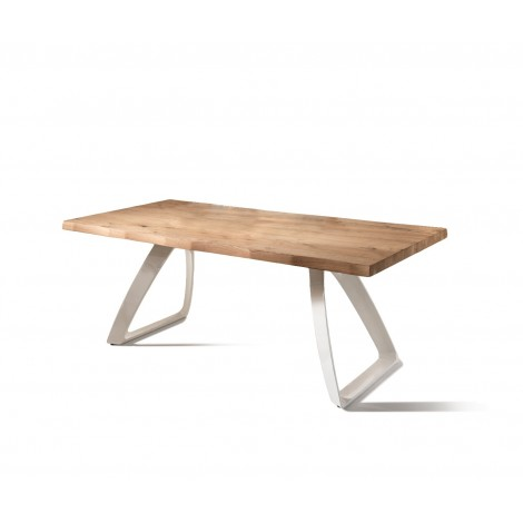 Bridge table fixed or extendable up to 300 cm available in several sizes and finishes with external extensions