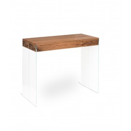Cloud fixed or extendable console up to 302 cm available in two oak or walnut finishes