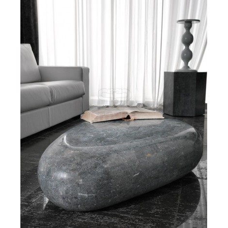 Sasso living room table in fossil stone available in two sizes