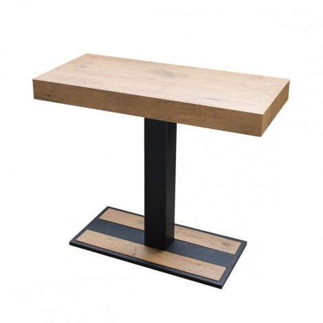 Capital extendable console in wood with metal structure with telescopic structure