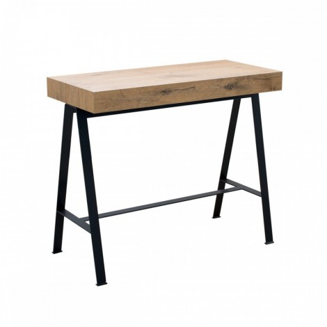 Extendable Console Bench with telescopic metal structure extendable up to 300 cm