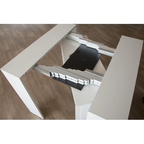 Extendable console up to 302 cm Arcobaleno available in several finishes with telescopic metal structure