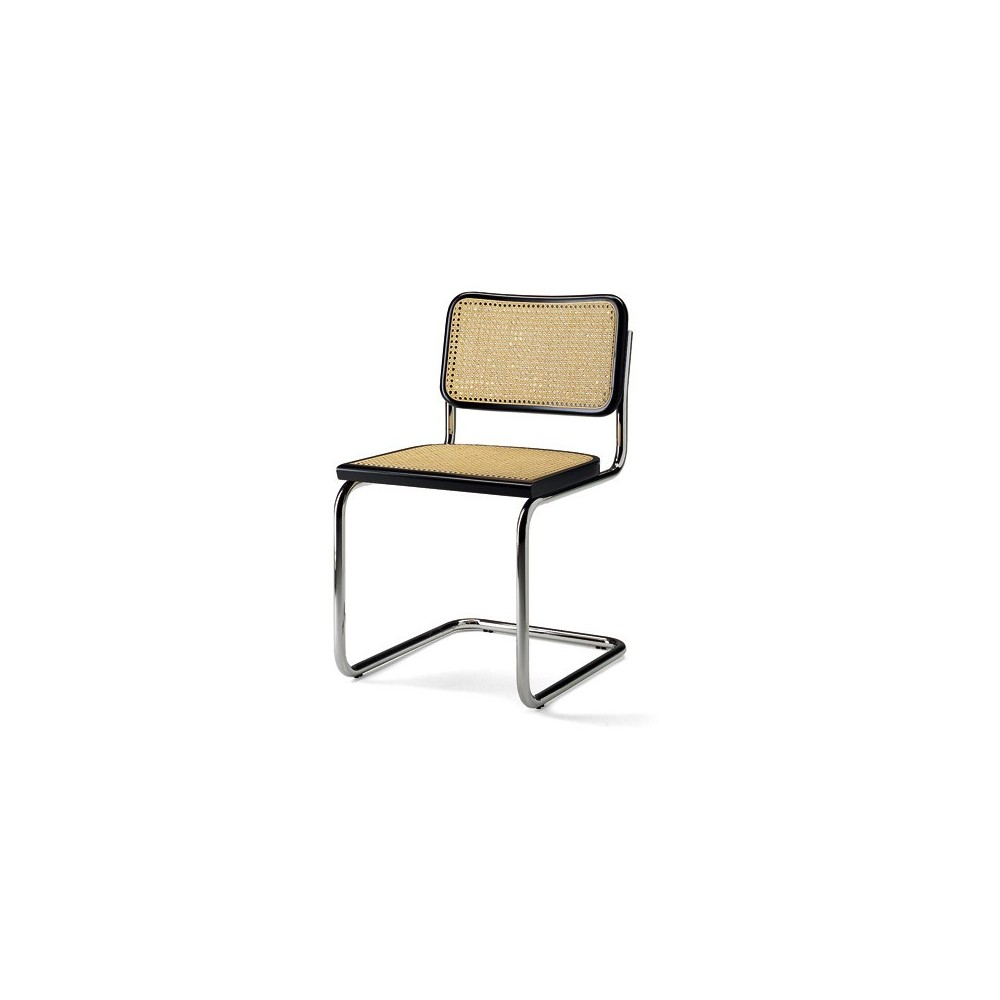 Re-edition of Cesca chair by Marcel Breuer with steel and cane structure