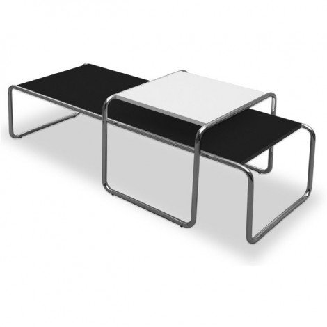Re-edition of the Laccio coffee table by Marcel Breuer in laminate