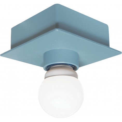 Metal ceiling lamp with square box structure with E 27 lamp max 100 watts