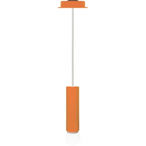 Suspension lamp in round tubular diam. 5 cm with E 27 lamp not included
