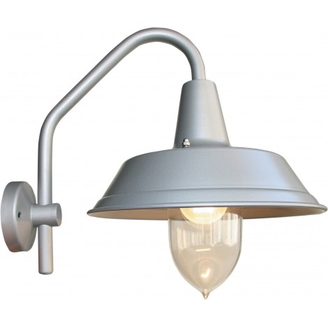 Galvanized steel wall lamp with max 100 Watt lamp IP 44 protection