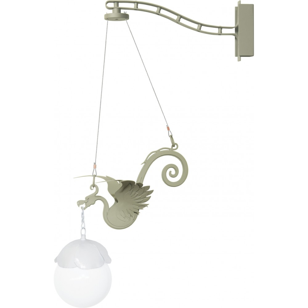 Wall or wall lamp in galvanized and painted steel with E 14 low consumption lamp not included