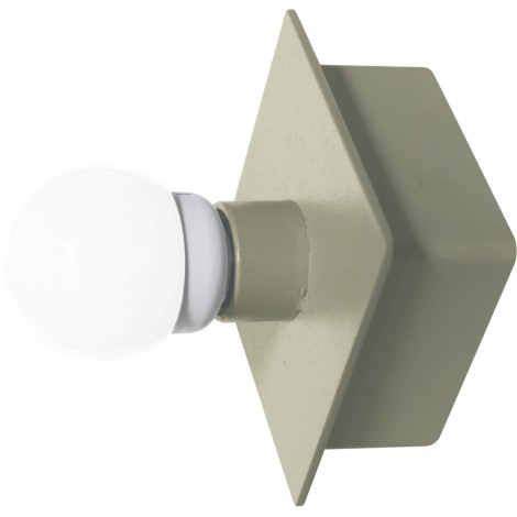 Box-shaped wall lamp in painted metal with E 27 lampholder not included