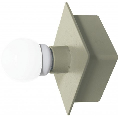 Wall lamp Murales in the shape of a painted metal box with lamp E 27 not included
