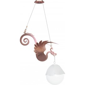 Dream ceiling lamp in copper-colored painted steel with polycarbonate lamp cover