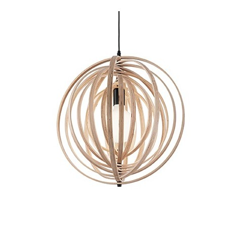Disco suspension lamp in 3 different finishes such as wood, white or black