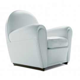 Re-edition of the Vanity armchair by the anonymous designer in real Italian leather