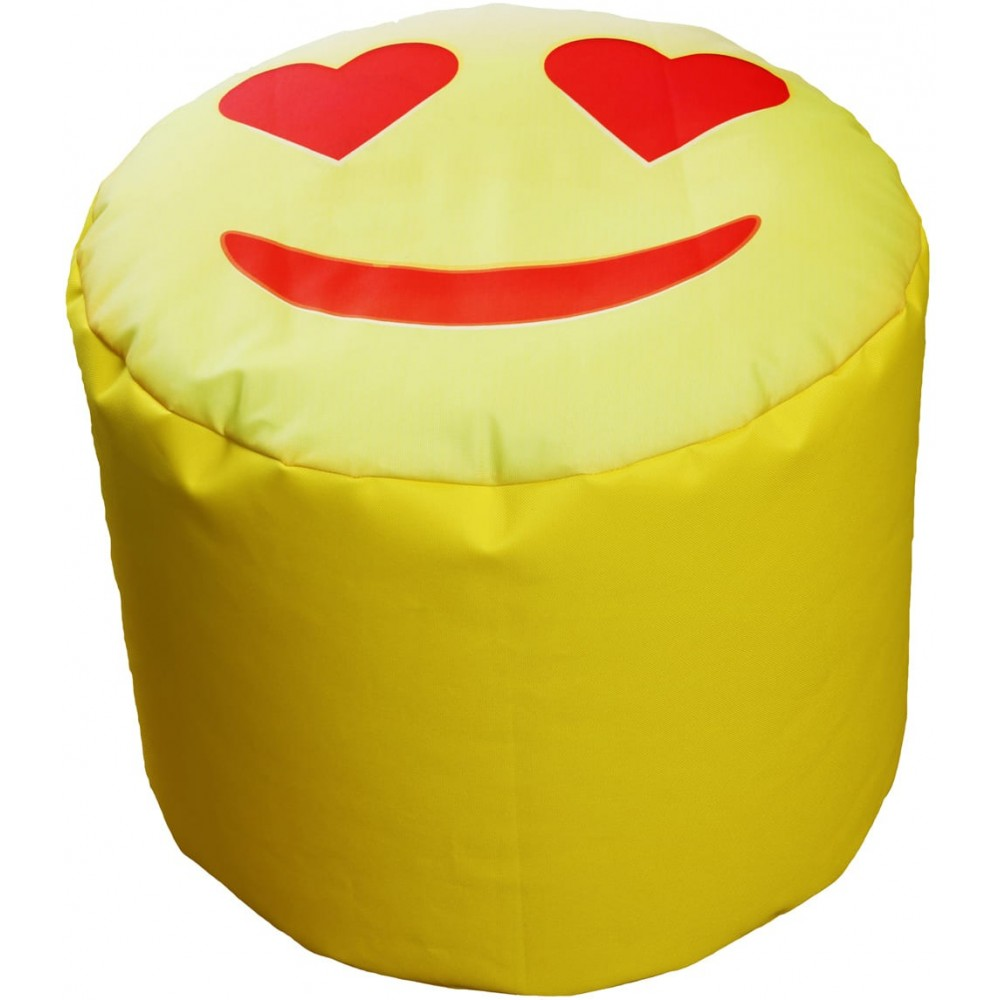 Pouf emoticon whatsapp cilindrico kasa store marchio di for Stoffe arredamento outlet
