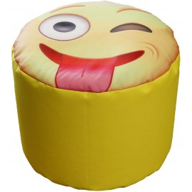 Cylindrical whatsApp emoticon pouf