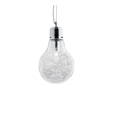 Suspension Lamp Luce Max in the shape of a lamp with structure in metal and blown glass available in several versions