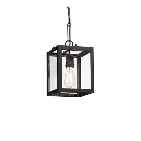 Igor suspension lamp with white or black painted metal frame available in 3 sizes