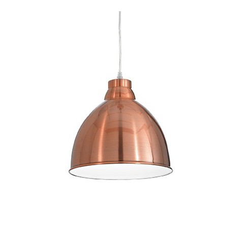 Navy Suspension Lamp in metal in various finishes with white enamelled interior. Height adjustable