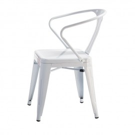Re-edition of the Tolix chair by Xavier Pauchard with arms and without armrests