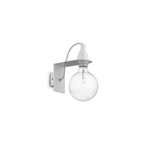 Metal wall lamp Minimal transparent glass and E 27 lamp