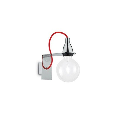 Wall lamp in metal Minimal transparent glass and lamp E 27