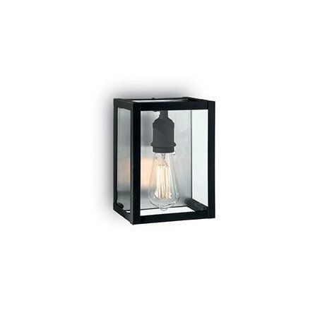 Igor Wall Lamp in white or black painted metal with E 27 lamp fitting