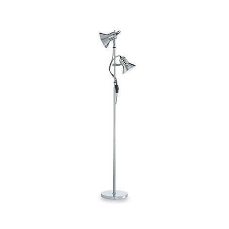 Polly floor lamp in metal and enamelled inside the diffuser with adjustable light in height and inclination