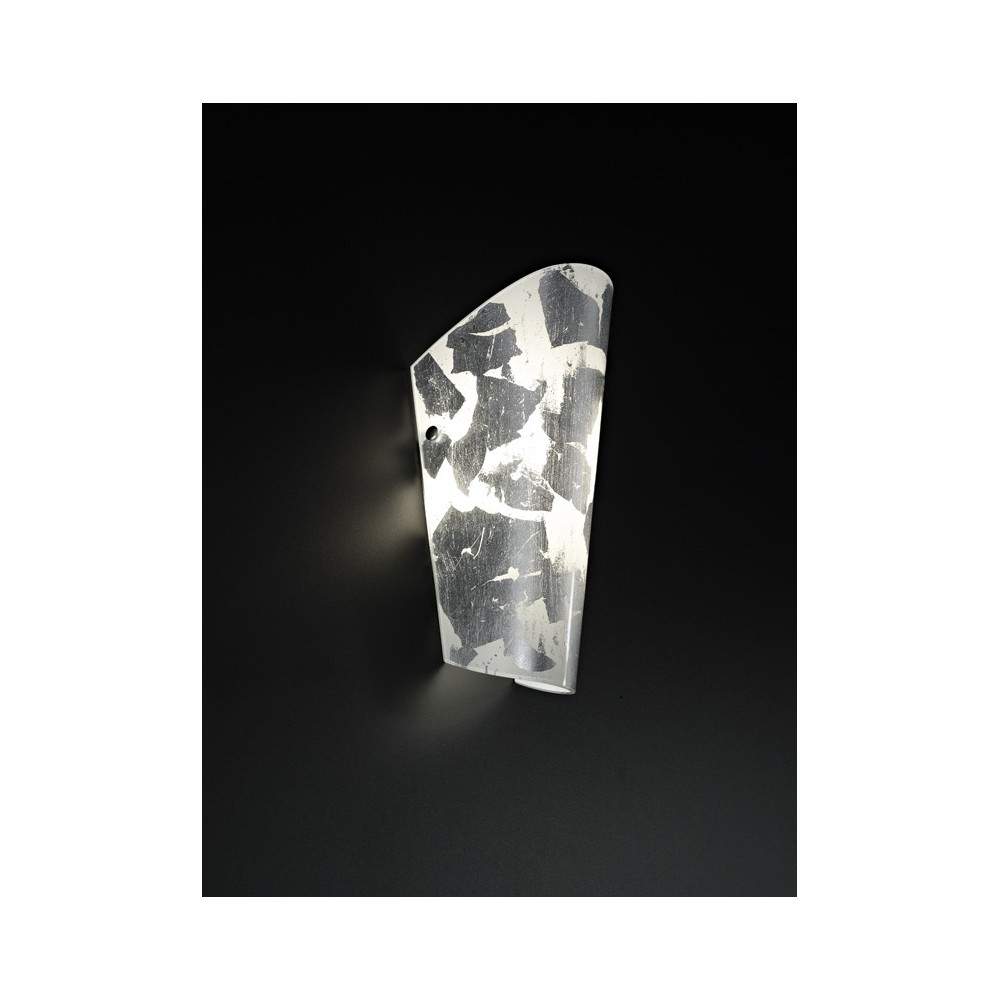 Bloom wall lamp with metal structure and glass diffuser in multiple color versions