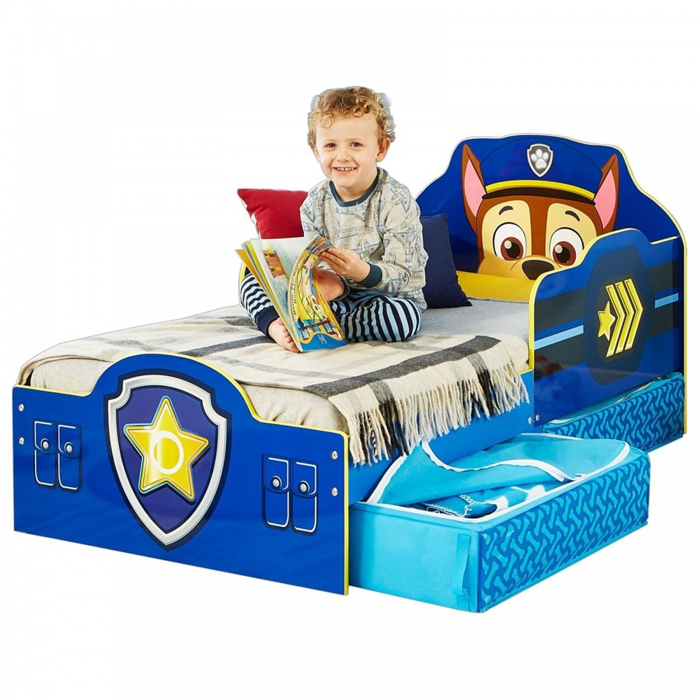 Shaped bed of paw patrol in mdf wood with drawers suotto to the