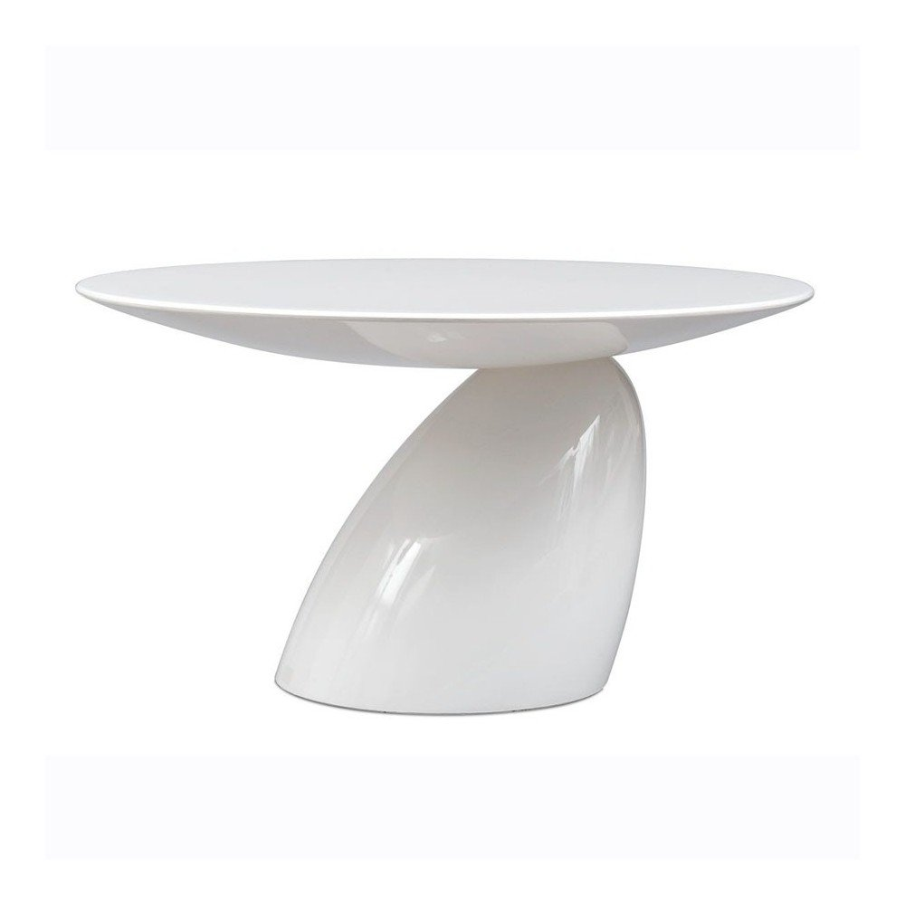 Re-edition of Parabel smoking table by Eero Aarnio in white fiberglass