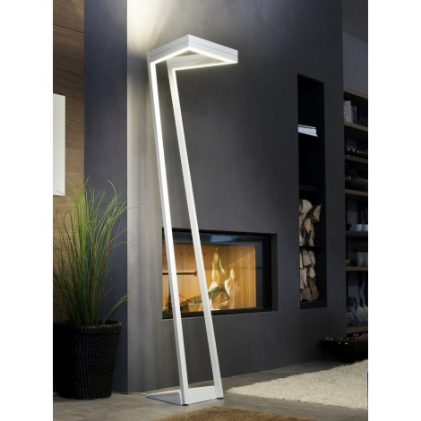 My Way floor lamp in white painted metal with LED lighting