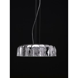 Big Cap suspension lamp with stopper-shaped glass diffuser available in 4 different finishes