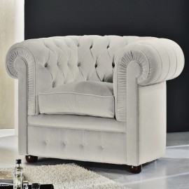 Re-edition of the Chester armchair of the still anonymous design in real Italian leather