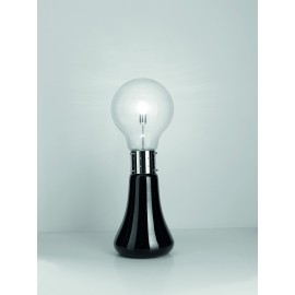 Dina floor lamp in chromed metal and blown glass with two power buttons