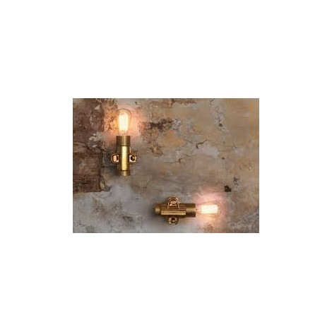 Nando wall lamp in white, anthracite or gold metal. Lamp socket type E 27