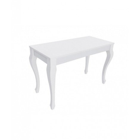 Paolina fixed or extendable console with laminate top and wooden legs