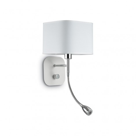 Holiday wall lamp in chromed metal with white or black matt painted base