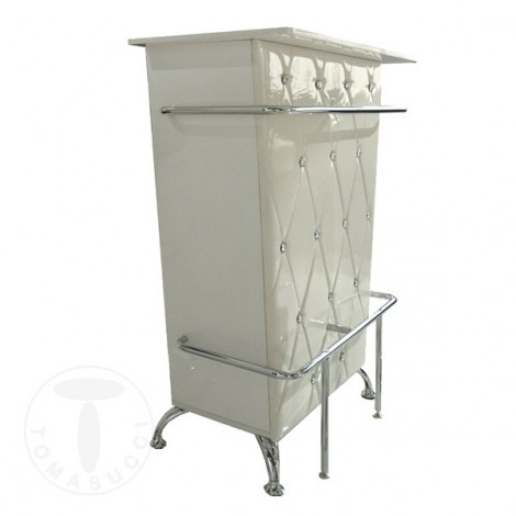 Tomasucci Diva bar furniture in mdf wood with padded fronts and rhinestones