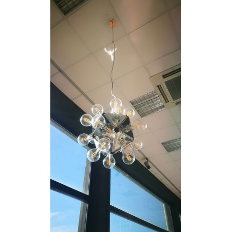 Reproduction of the Taraxacum chandelier with metal structure and sphere glass with 60 lights G4 5 W