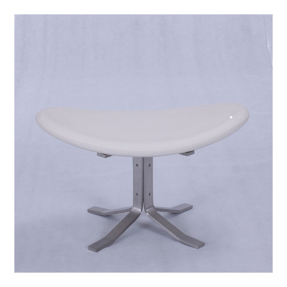 Re-edition of Corona footrest by Poul Volther in genuine Italian leather or fabric