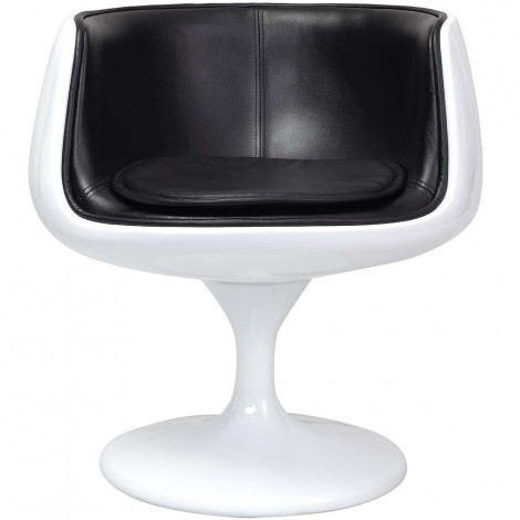 Re-edition of Cup Chair by Eero Aarnio in fiberglass, genuine Italian leather and with swivel function
