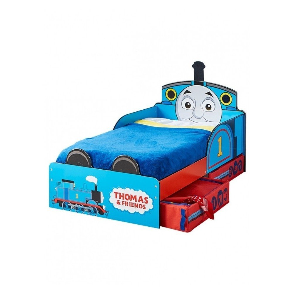 Simple Thomas train bed from the Disney cartoon world for children