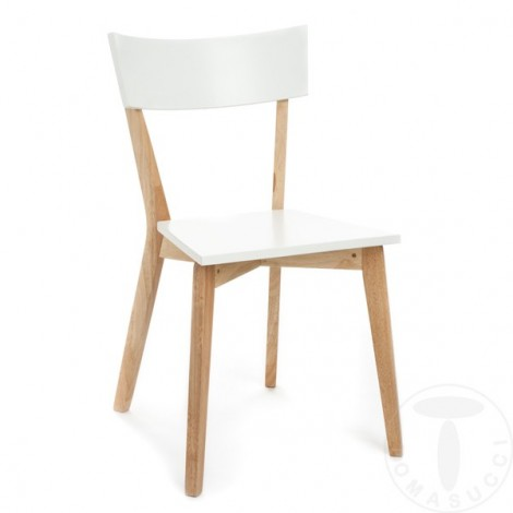 Set 2 Kyra chairs by Tomasucci in solid wood with wooden seat available in two finishes