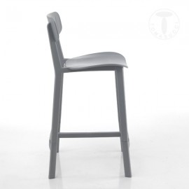 Set of 2 Mara polypropylene stools suitable for indoor and outdoor available in three different finishes