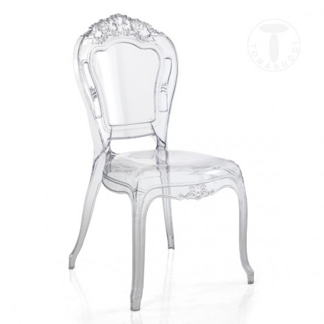 Chairs Monaco of polycarbonate Tomasucci for interiors and exteriors. With armrests or without