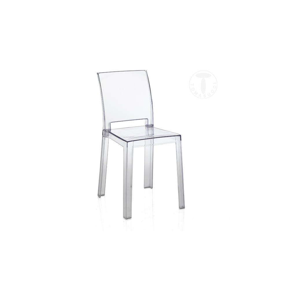 Chair Mia by Tomasucci in transparent polycarbonate suitable for indoors  and outdoors