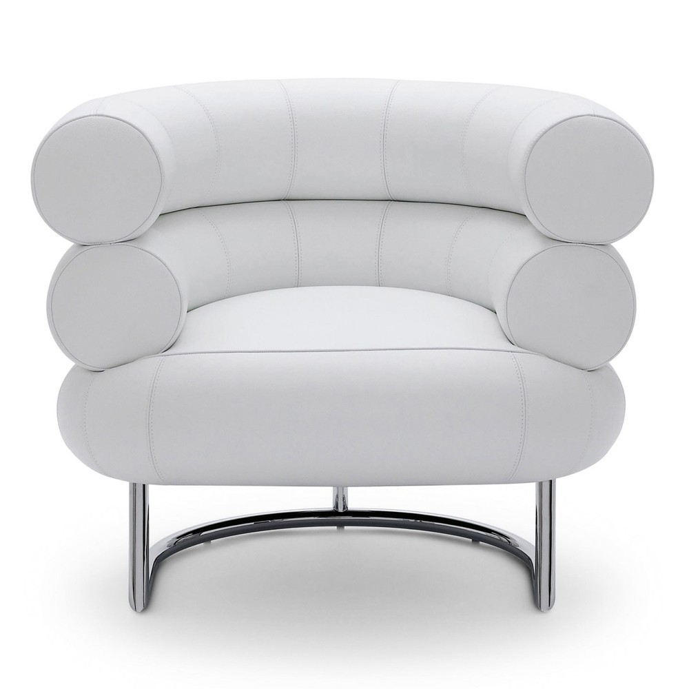 Re-edition of Bibendum armchair by Eileen Gray covered in real Italian leather