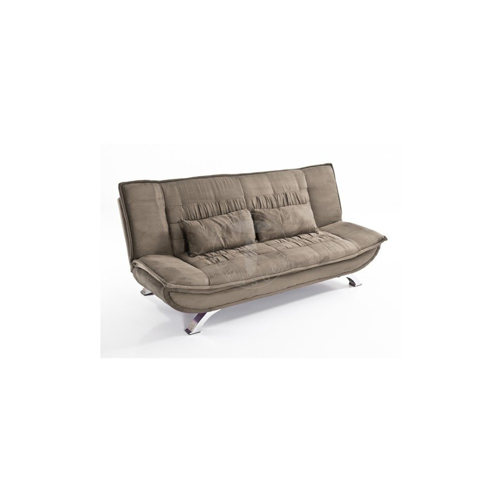 Letto Sofa.Lola Dove Grey Sofa Bed By Tomasucci With Micro Fibre Velvet Effect In Dove Color And Chromed Metal Base
