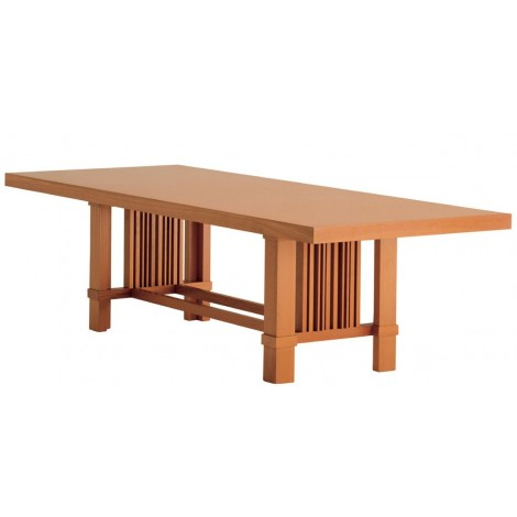 Re-edition of Talisien table by Frank Lloyd Wright in solid cherry wood